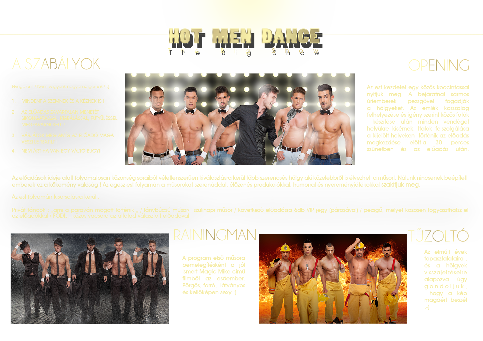 HOT MEN DANCE - THE BIG SHOW #1